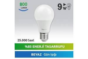 Nextled E27 LED Ampul 9W Beyaz