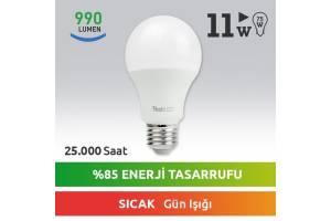 Nextled E27 LED Ampul 11W Sıcak
