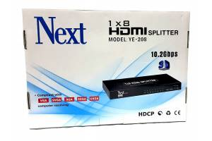 Next YE-208 1x8 HDMI SPLITTER