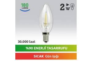 Nextled E14 LED Mum Ampul 2W Sıcak Kuyruksuz