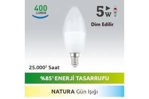 Nextled E14 5 Watt Nature LED Mum Ampul DIM Edilebilir