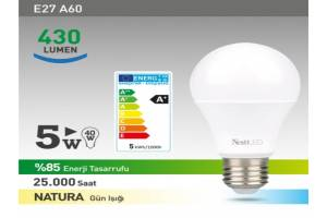 Nextled E27 LED Ampul 5W NATURAL