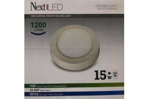 Nextled Sıva Üstü LED Yuvarlak 15W Beyaz