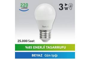 Nextled E27 LED Ampul 3W Beyaz