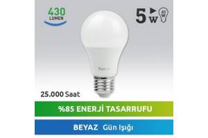 Nextled E27 LED Ampul 5W Beyaz