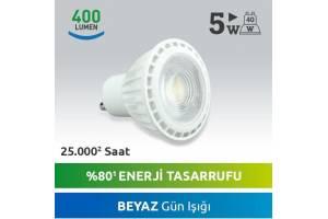 Nextled GU10 LED SPOT 5W Beyaz