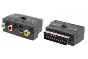 3Rca To Scart Audio Video Adaptör İn-Out Anahtarlı